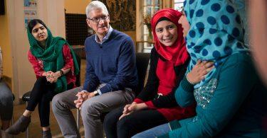 Tim cook y Malala, aliados por la educación