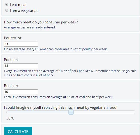 Como funciona la nueva calculadora de impacto ambiental por consumo de carne