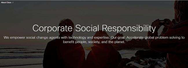 formas de demostrar la responsabilidad social caso Cisco