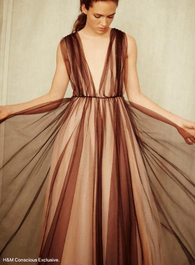 Vestido de la coleccion COnscious de H&M