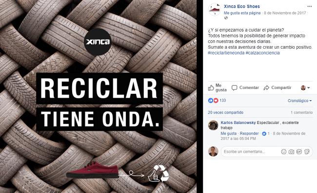 Infografia de Xinca en Facebook, ejemplo de usar las redes sociales de manera responsable y rentable
