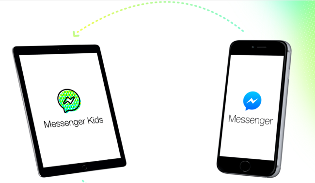 Messenger Kids la app de Facebook para niños vs Messenger