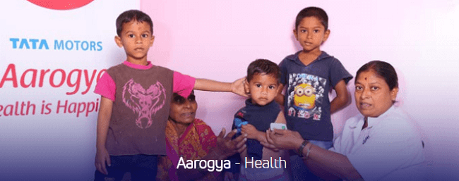 Salud programa de rSE de Tata Motors Ejemplo de programas de vínculo con la comunidad