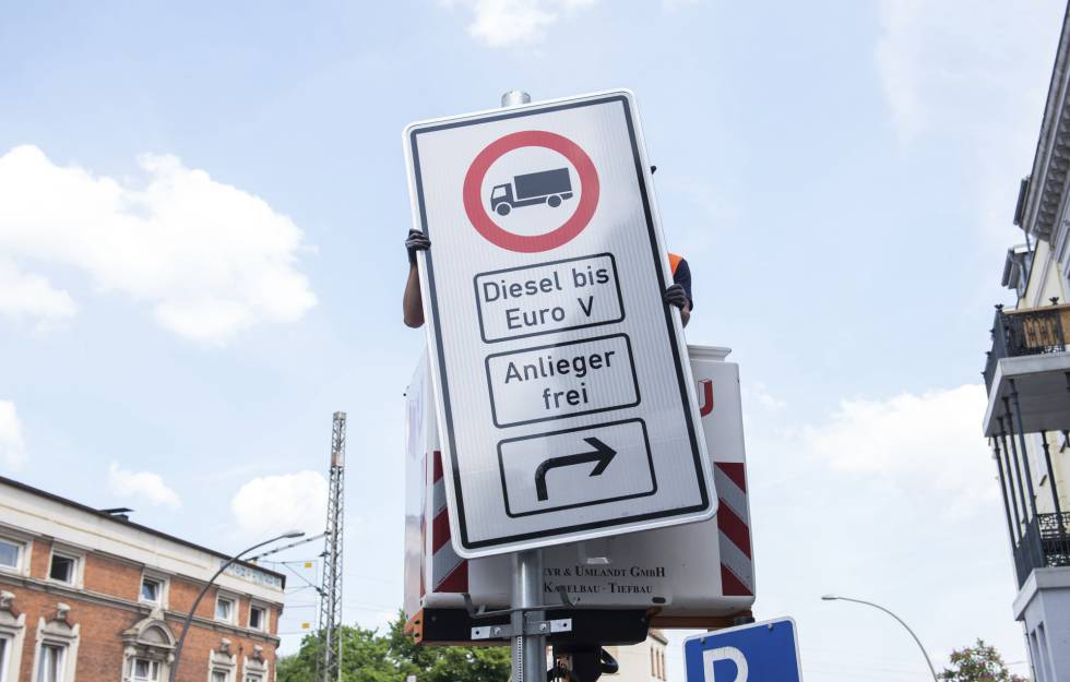 Hamburgo prohíbe coches de diésel