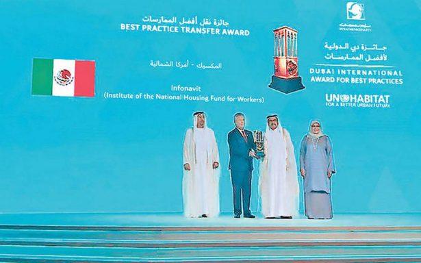 México recibe Premio Internacional de Dubai por desarrollo sostenible