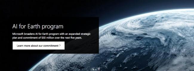 AI for Earth programa de responsabilidad social empresarial de Microsoft