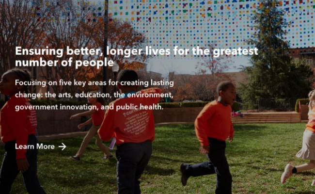 Programa de responsabilidad social empresarial de Bloomberg, Bloomberg Philanthropies