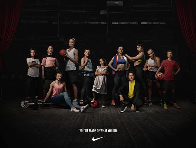 Ejemplo de empoderamiento femenino de Nike en Rusia