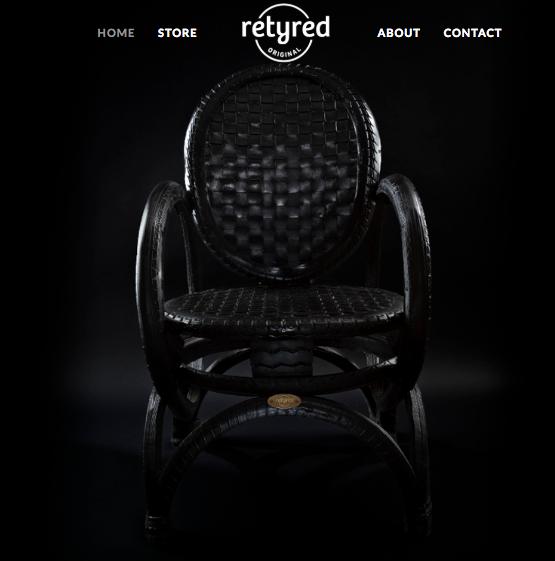 Retyred empresa que usa el reciclaje de llantas para fabricar muebles muy trendy