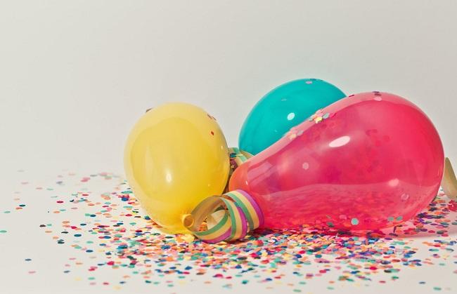 Uso de los globos de fiesta