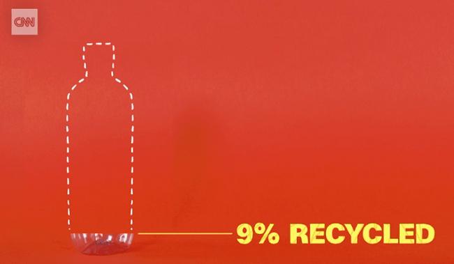 Solo 9% del plastico se recicla