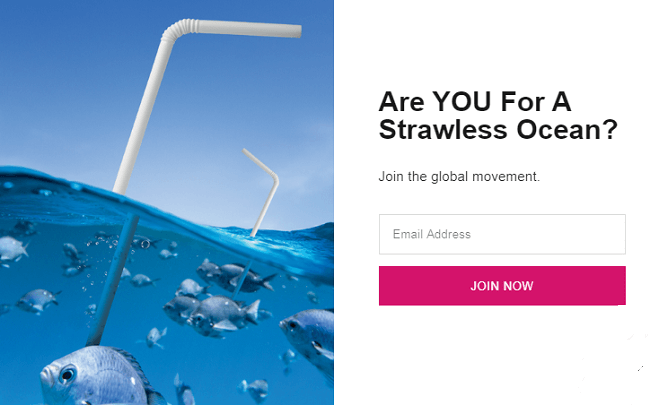 Estas listo para un oceano sin popotes de plastico