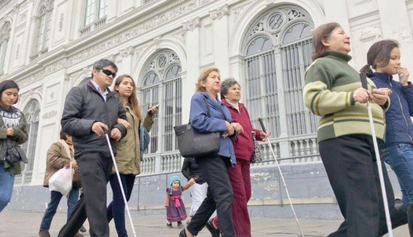 Dispositivo de apoyo para personas con discapacidad visual