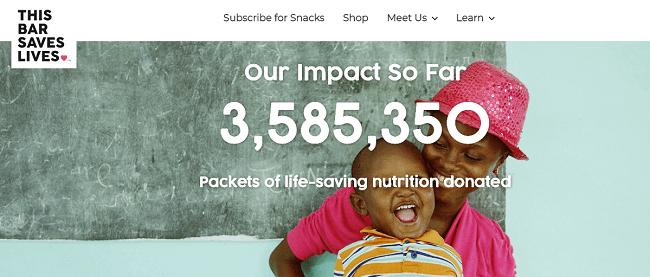 This Bar Saves Lives empresa que sabe conectar las ganancias con el proposito
