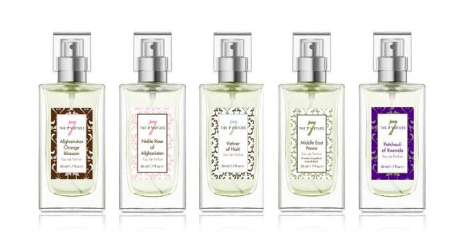 Productos que ofrece 7 Virtues ejemplo de RSE en la industria de los cosmeticos