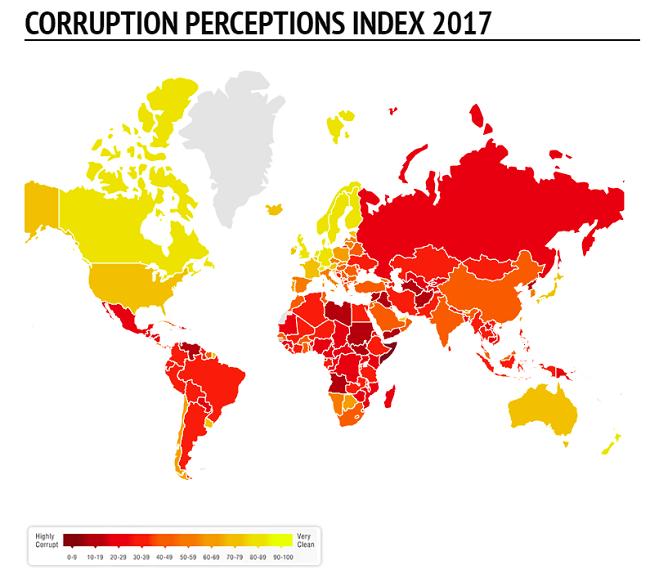 Solucionar la corrupcion mundial urge