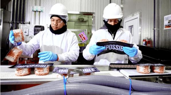 hamburguesas de Impossible Foods
