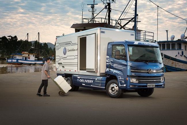 Este es Volkswagen E Delivery el primer camion electrico adquirido por Ambev