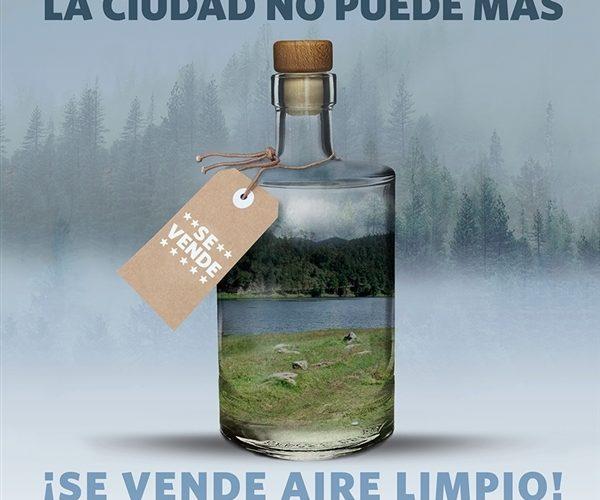 ¿Greenpeace distribuye aire limpio envasado?