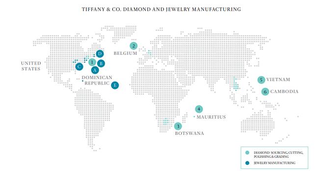 Datos del nuevo informe de sustentabilidad de Tiffany para 2017