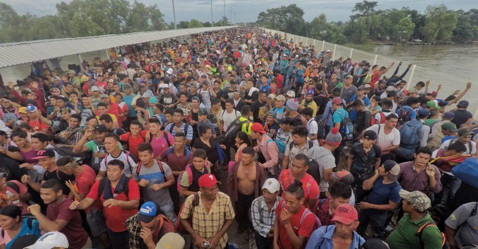 Ayuda para la caravana migrante