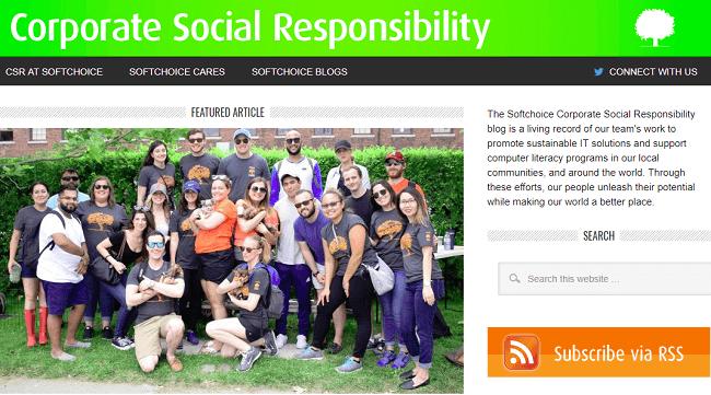 Comunicar la RSE con un blog caso Soft Choice