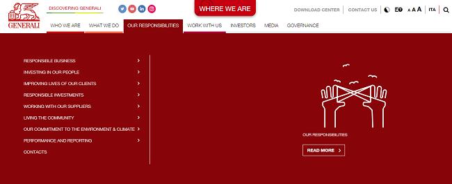 Mejorar la transparencia con el sitio web, caso Generali