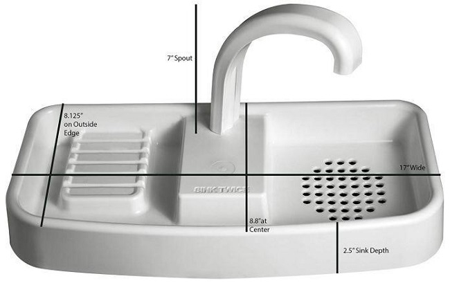 Características del fregadero de la tapa del inodoro SinkTwice