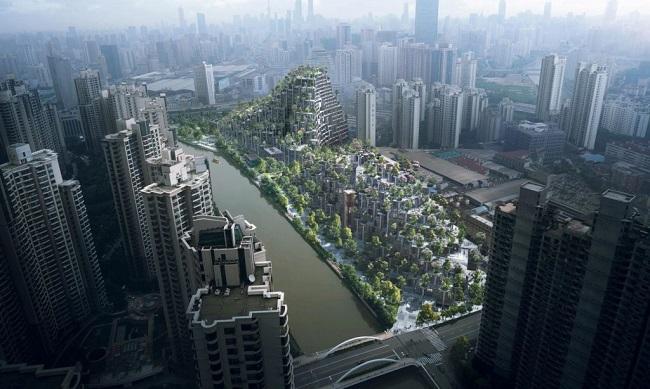 10 ejemplos de arquitectura sostenible - colina verde