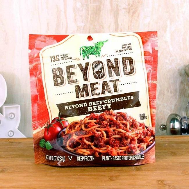 Alimentos comerciales hechos de plantas - Beyond meat