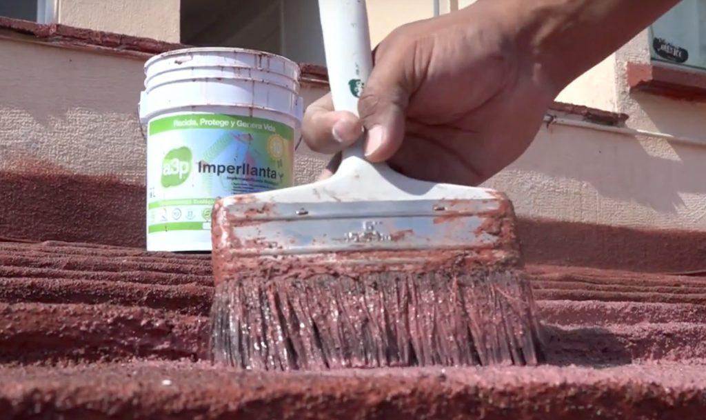 Impermeabilizante ecológico con llantas recicladas
