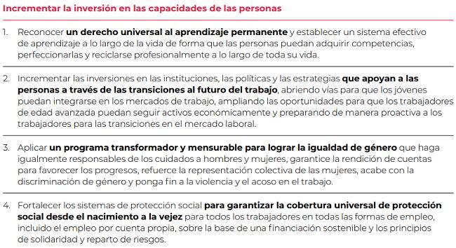 Solución para trabajar para un futuro más prometedor - un programa enfocado en las personas - invertir en la capacidad de las personas