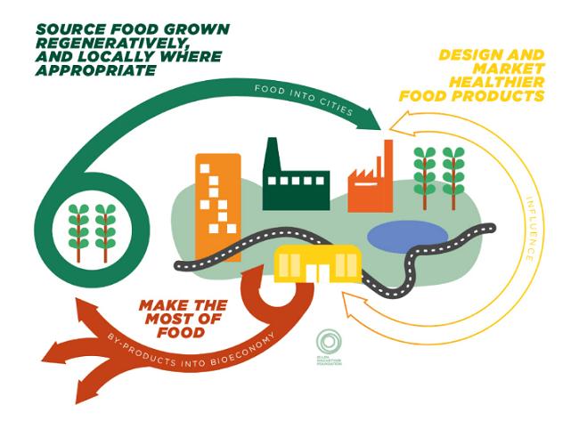 Ete reporte centrado en el potencial cómo lograr una economía circular para alimentos, que podría generar 2.7 billones dólares en beneficios anuales para la sociedad y el medio ambiente