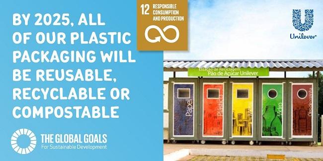 Compromiso relacionado con los empaques plásticos de Unilever