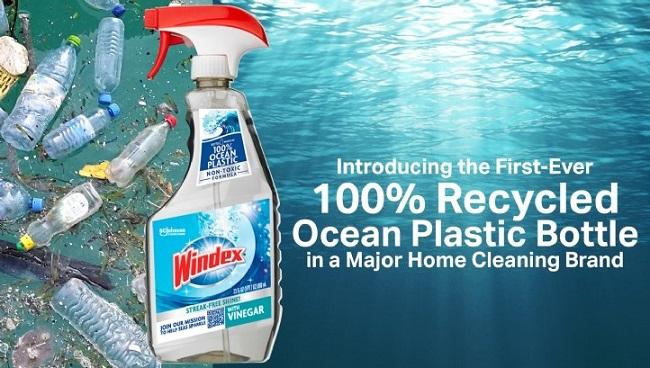 Empresas que han lanzado botellas de plástico recicladas / reciclables - Sc Johnson y la nueva botella de Windex