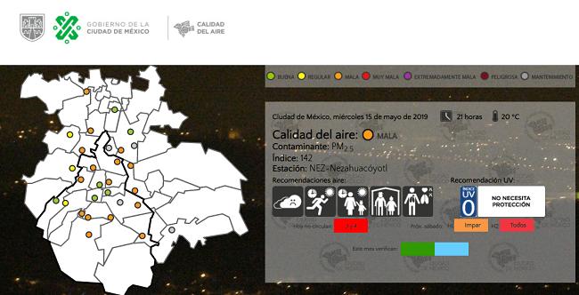 En los últimos días, la calidad del aire en la Ciudad de México y otros estados se ha visto afectada por incendios en la región centro y sur del país.