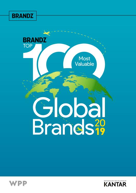 Las 100 marcas más valiosas del mundo 2019 - reporte de Brandz