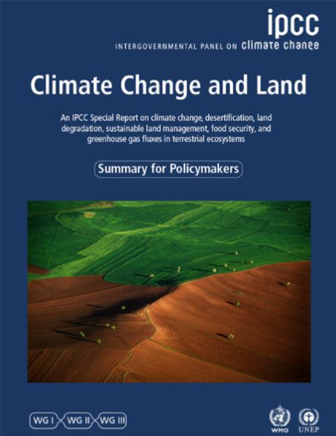 Informe especial del IPCC sobre cambio climático y suelo