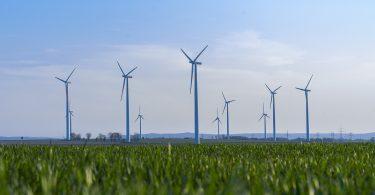 turbinas eólicas. Nestlé anuncia una nueva asociación de parques eólicos en la costa de Inglaterra.