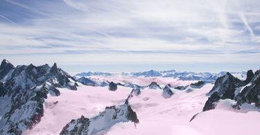 Alpes rosas por alga