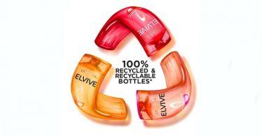 L'Oréal lanza botellas hechas de plástico 100% reciclado