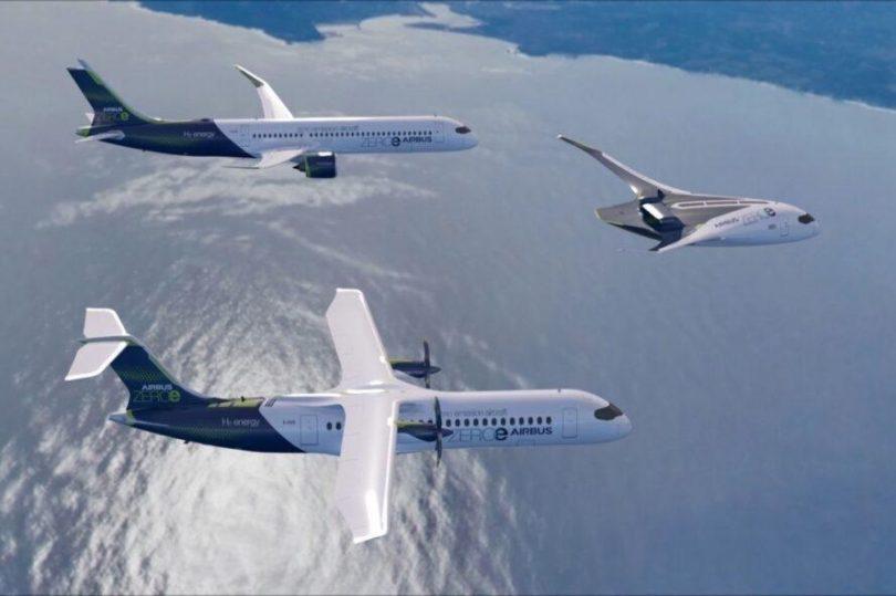 Airbus presenta los primeros aviones comerciales cero emisiones en el mundo