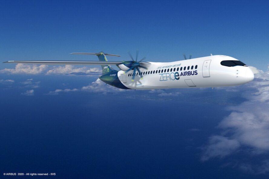 Airbus presente los primeros aviones comerciales cero emisiones en el mundo