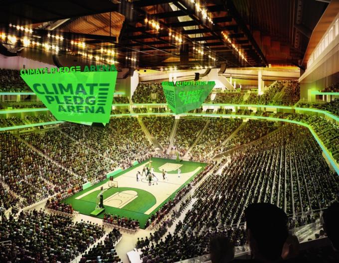 Climate Pledge Arena.El estadio Climate Pledge Arena de Amazon cambiará las reglas de los estadios verdes