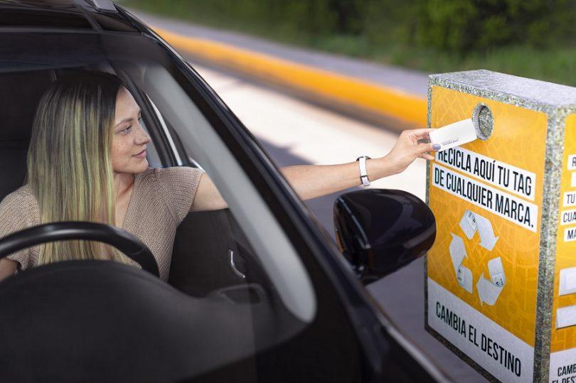 campaña de reciclaje de tags