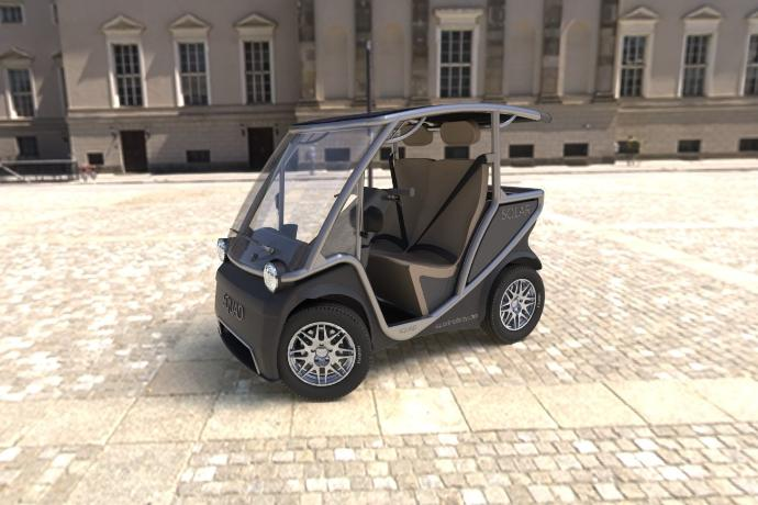 Este pequeño automóvil con energía solar