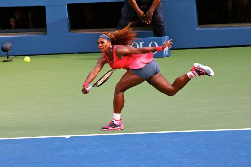 """""""Serena Williams at the US Open 2013"""" by Boss Tweed is licensed under CC BY 2.0"""