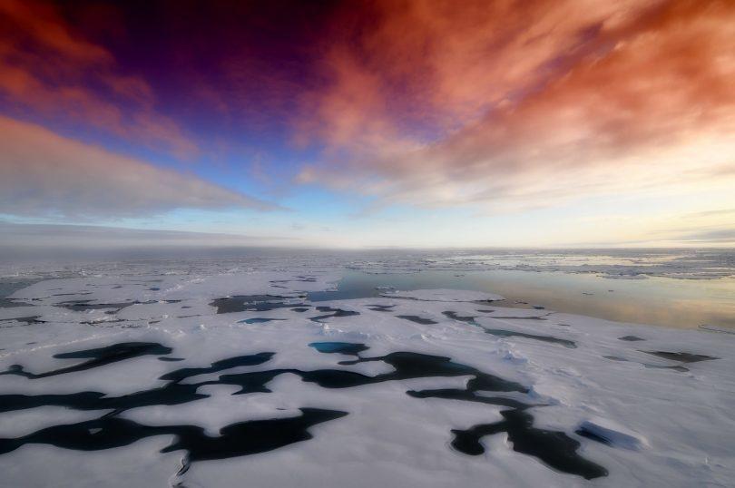 Hielo Ártico en niveles mínimos ya