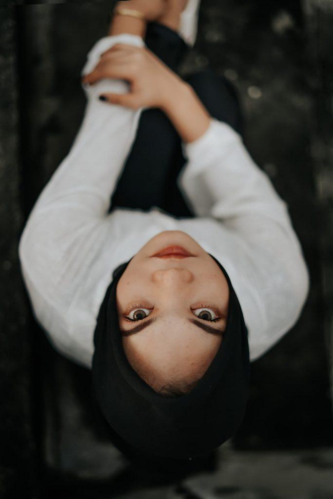 hermosa en hijab que es