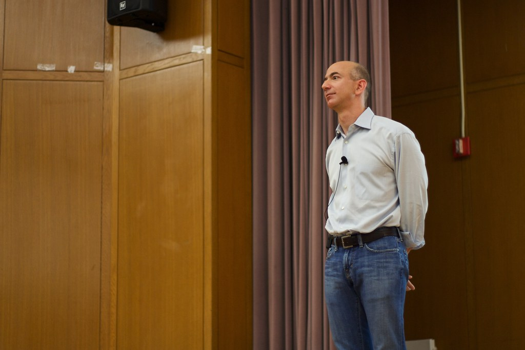 """""""Jeff Bezos"""" by Mathieu Thouvenin is licensed under CC BY-NC-ND 2.0"""